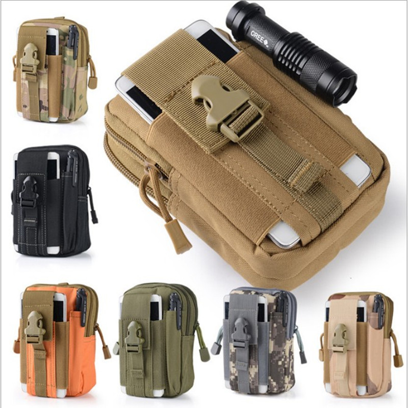 Outdoor Military Tactical Belt Waist Bags Waterproof Mobile Phone Wallet Travel Sport Waist Pack Camping Hiking Sports Pouch