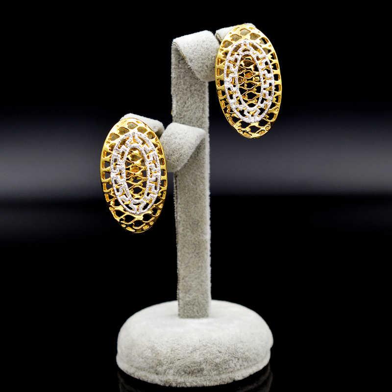 Bijoux ensoleillés ensembles de gros bijoux collier boucles d'oreilles pendentif pour femmes bijoux de luxe pour fête quotidien Vintage résultats de bijoux