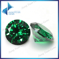 50pcs 6.25-12.0mm 5A Round Cut CZ Stone Brilliant Green Cubic Zirconia  Synthetic Gems stone