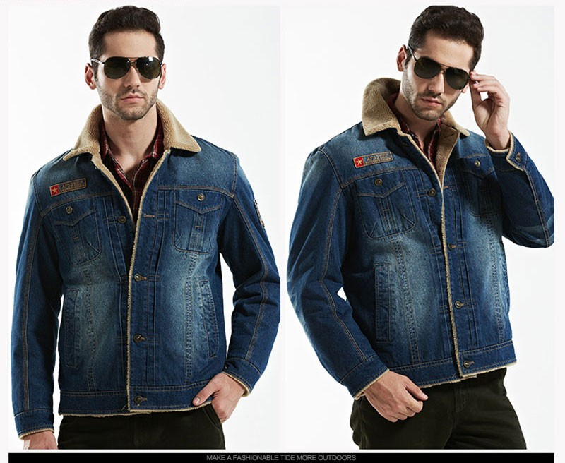 M~4XL New Retro Warm Denim Jackets Mens Jeans Coats Winter Jackets Brand AFS JEEP Thicken Denim Coat Men Outwear Male Asian Size (24)