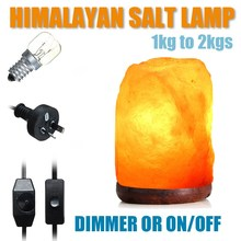 HOT Himalayan Crystal Salt Lamp Night Light Table Desk Candle Home Bedroom Decor Adornment Craft Dimmable Switch AU Plug
