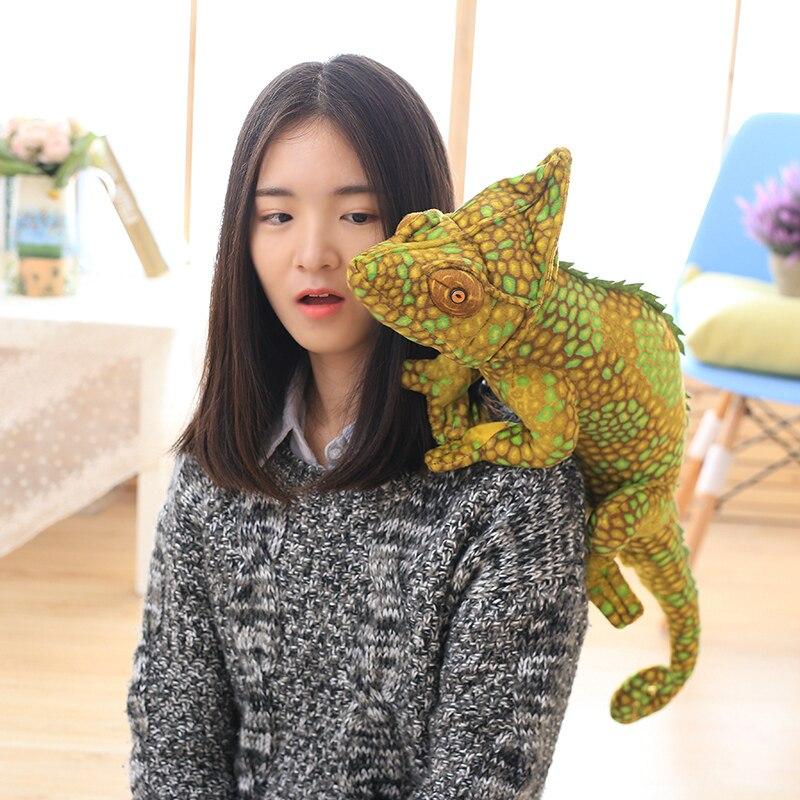 Nouvelle peluche simulation caméléon jouet creative jaune lézard poupée cadeau sur 69x28 cm 2732