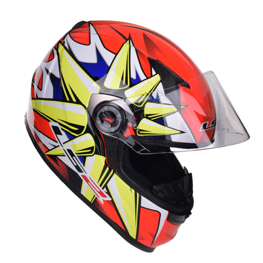 LS2 Capacete Da Motocicleta De Corrida Rosto Cheio Capacetes Casco Capacete Kask Casque Moto Alex Barros FF358 LS2 Leme Caschi
