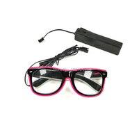 Товары для дня рождения танцевальные очки для вечеринки украшения EL Wire Rave очки 20 штук оптовая продажа продукта