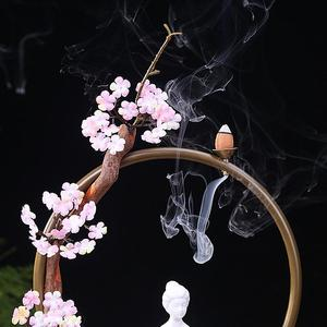 Image 5 - مبخرة بخور تراكمي إبداعي أنيق تقليدي بوذا لوتس كلاسيكي حامل بخور شلال دخان ديكور منزلي