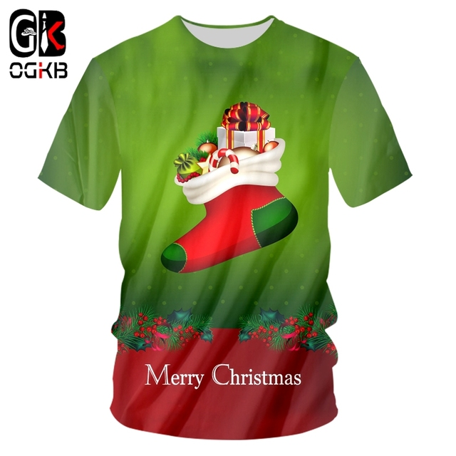 4c8bb3db4038 OGKB Animal T Shirts Man New 3D T-shirt Printed Christmas And Santa Claus  Plus Size 5XL 6XL Costuming Men s Loose O Neck Tshirt