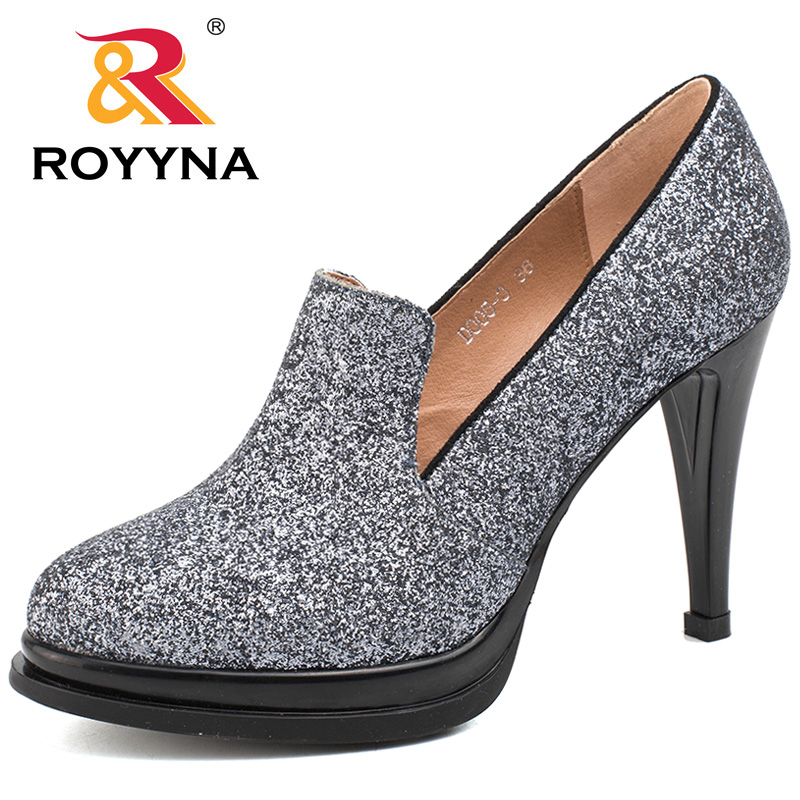 ROYYNA 2017 New Style Women Sheos Shallow Women Pumps High Heels Women Casual Shoes Round Toe Women Wedding Shoes Free Shipping royyna new sweet style women sandals cover heel summer gingham women shoes casual gladiator ladies shoes soft fast free shipping