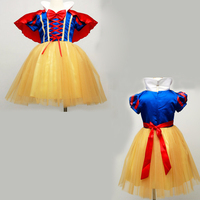 New Summer Girls Snow White Princess Dresses Kids Girls Halloween Party Christmas Cosplay Dresses Costume Children
