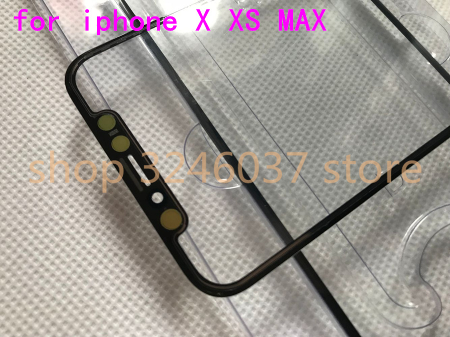 1Pcs Original NEW ios 12.1.1 For Apple iPhone X XS Touch Screen Digitizer 5.8 Front Glass Lens Outer Panel Flex Cable