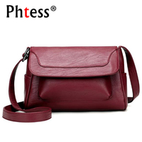 2017 Women Messenger Bags Small Famous Brands Female Ladies Shoulder Bags Sac A Main Black Leather