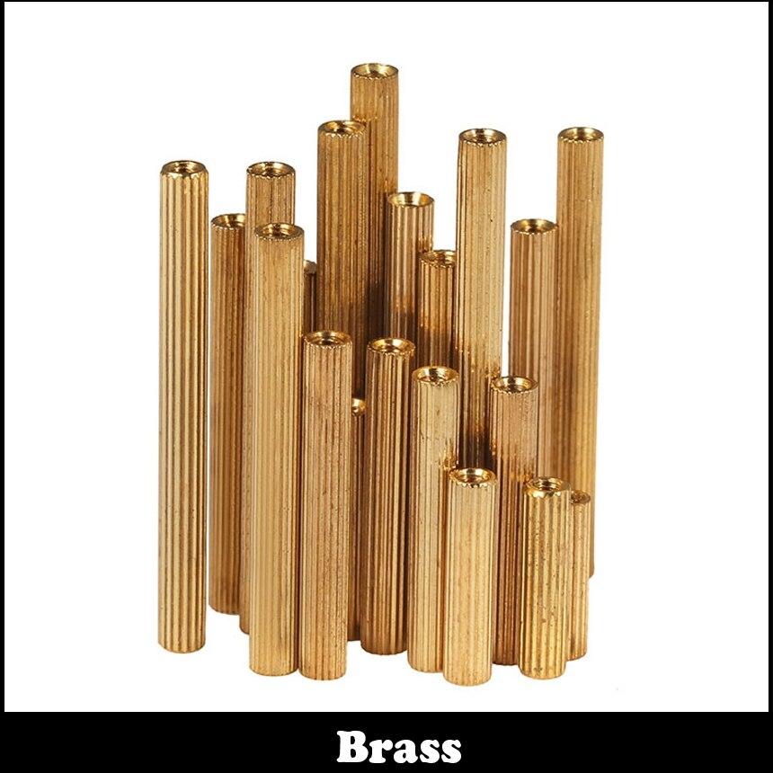 M2 M2*13 M2x13 M2*14 M2x14 Brass Female To Female Dual Thread Nut Column PCB Cylinder Stand Off Stand-off Pillar Spacer Standoff