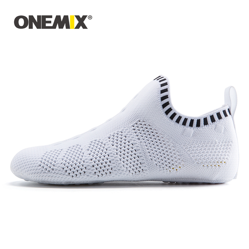 ONEMIX New Men Women Indoor Shoes Quick Dry Mesh Environmentally Women Casual Yoga Shoes Slippers Breathable