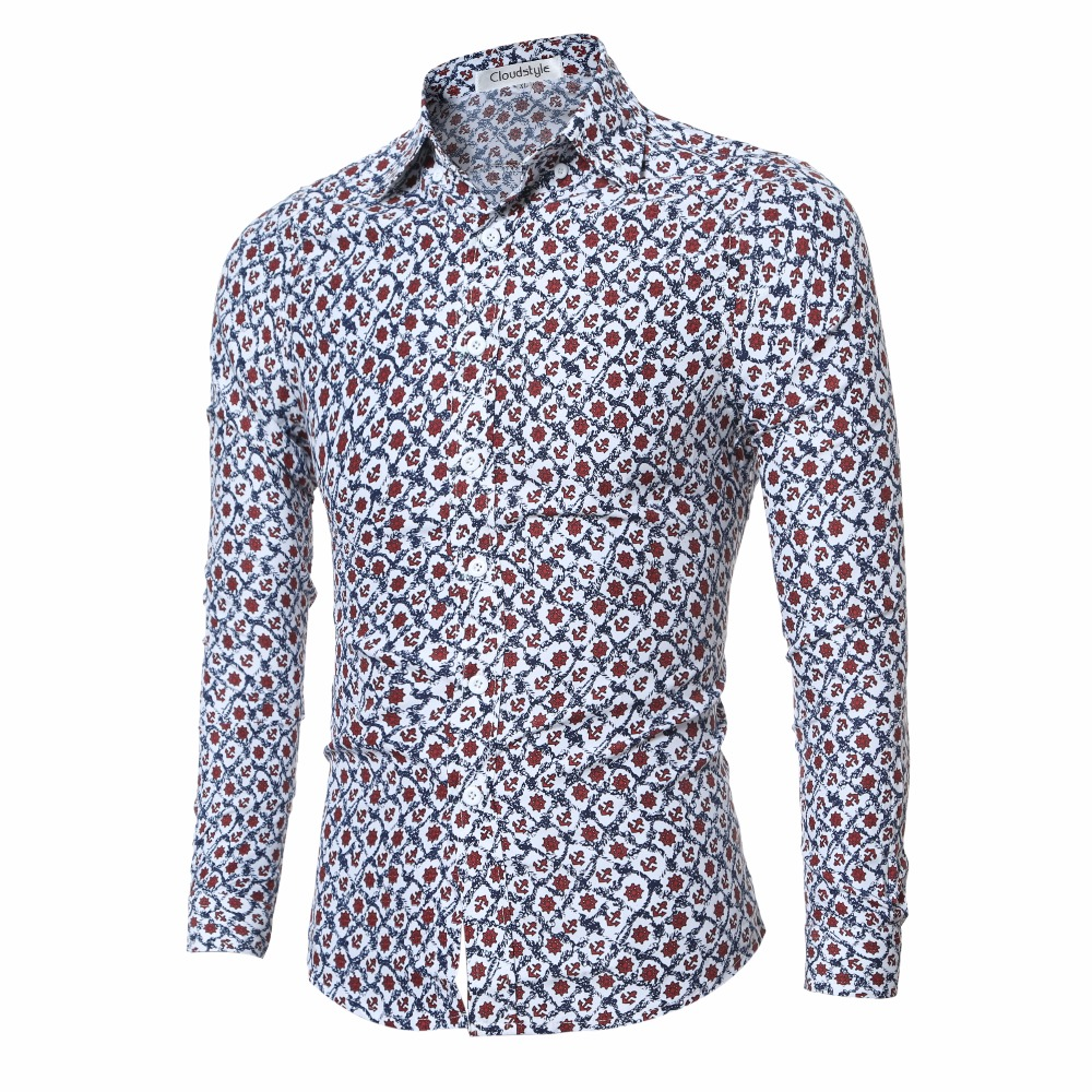 Patterned mens shirts custom shirt for Long sleeve shirt pattern