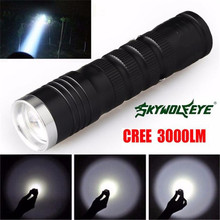 SKY WOLF EYE 3000 Lumens 3 Modes Q5 LED Light 14500/AA Flashlight Powerful Lamp Cycling Bicycle Bike Hand Front Torch