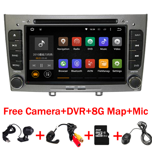 Grey Piano 2din Android 7 1 Multimedia font b Car b font DVD Navigation For Peugeot