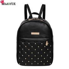 Женские рюкзаки модные повседневные сумки Высокое качество заклепки бисера женская сумка Кожа PU рюкзаки для девочек женская сумка