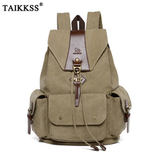 2019 New Vintage Preppy Style men Canvas Backpack Teenager Casual Student School Bag Fashion Travel Rucksacks Laptop Bag Unisex недорого