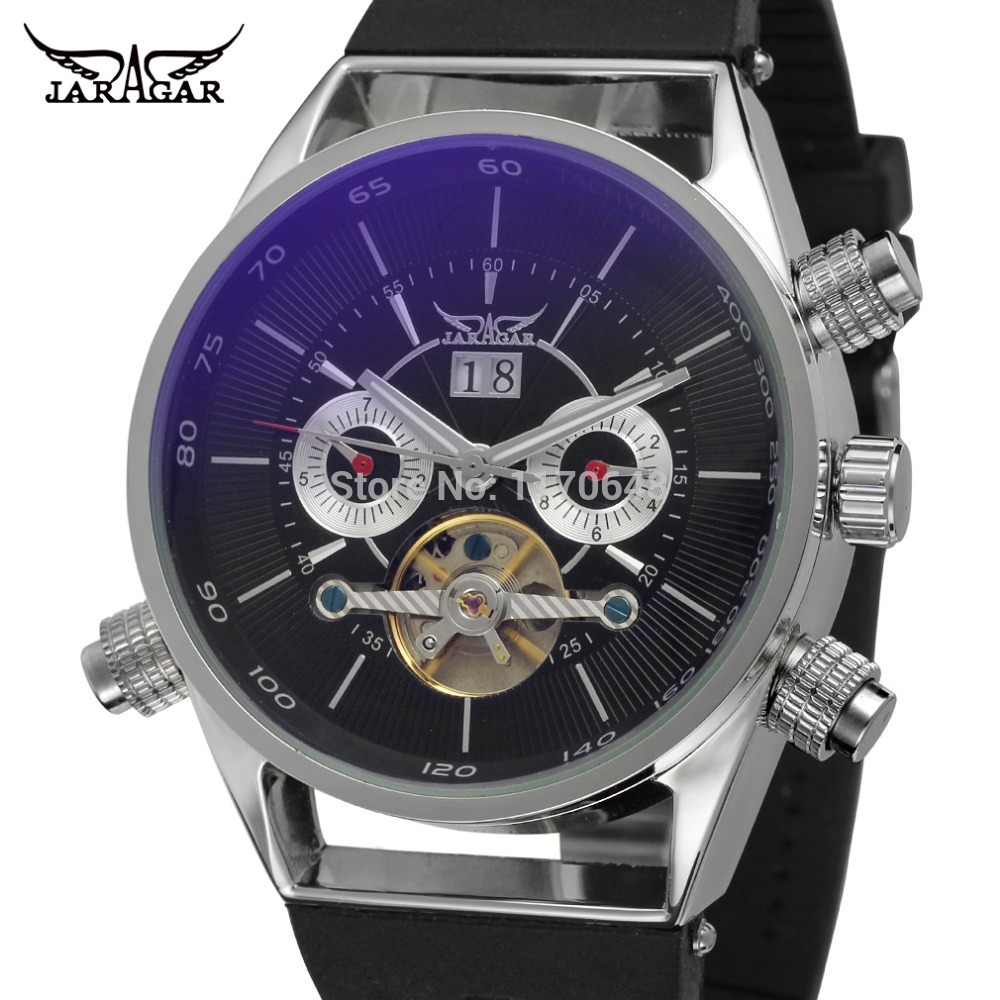 JARGAR JAG448M3S1 NEW fashion design with silver color case black color dial with two silver color small eyes plastic band рюкзак case logic 17 3 prevailer black prev217blk mid