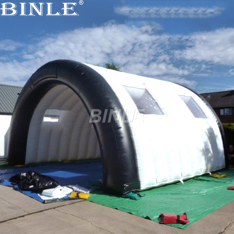 Custom white outdoor waterproof giant inflatable tunnel tent entrance arch car garage tent with removeable windows for sale black inflatable tunnel 4 4 3m tunnel tent stage tent for children giant inflatable stage cover for sale toys tents