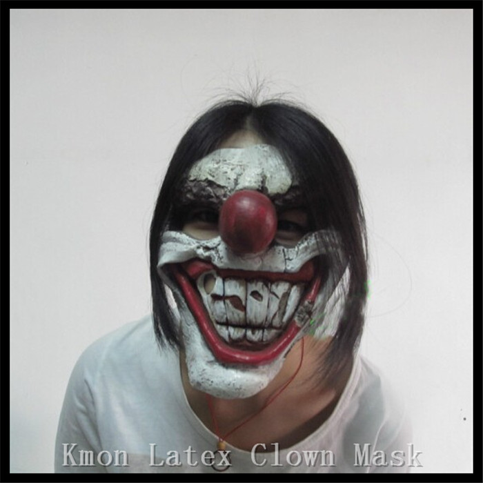 Free shipping Halloween Part font b Cosplay b font twisted latex clown mask funny party mask