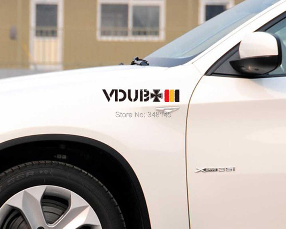 Aliauto اكسسوارات السيارات عالم حواء عبور ألمانيا العلم ملصقات السيارات والشارات عاكسة ل audi volkswagen golfgti sagitar شيروكو