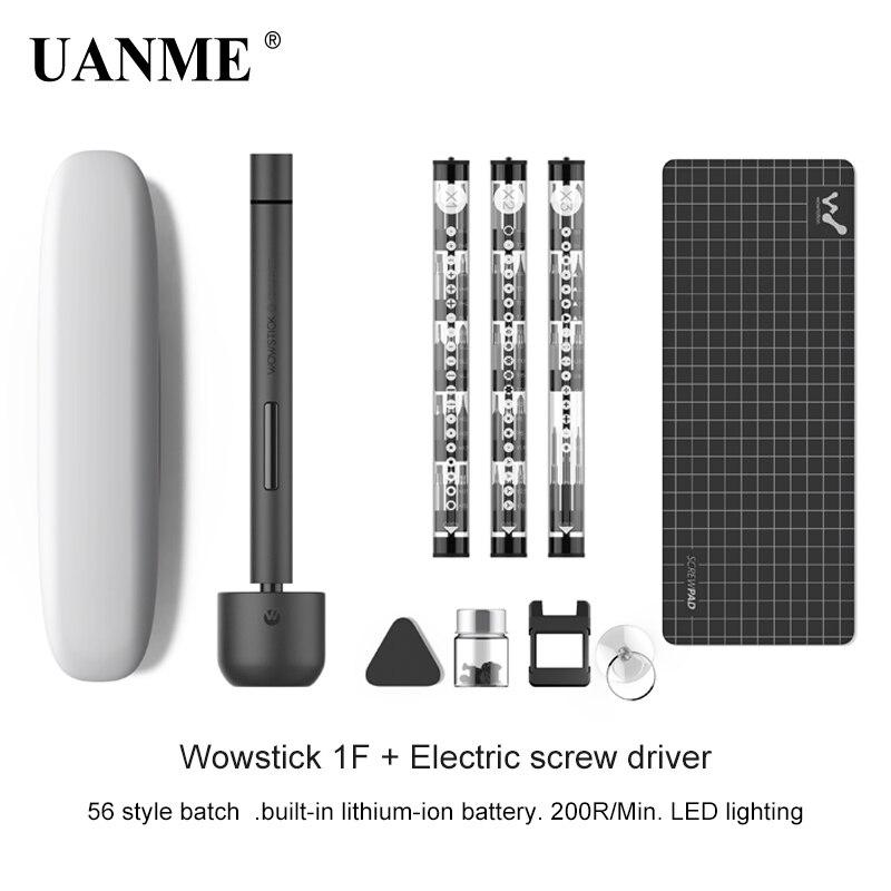 Wowstick 1F + Pro Mini Cordless Cacciavite Elettrico di Precisione LED Illuminato Cacciavite Telefono Astuto di Potere del Litio RC Drone Riparazione