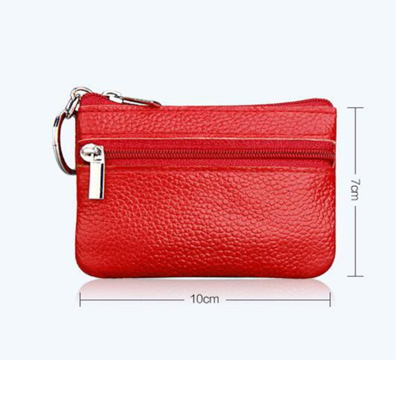 New Arrival Casual Women Housekeeper For Home Fashion Leather Coin Pouch Case Wallet Man Car Key Holder Keyring Black