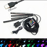 Car Interior UB Interface Sound RGB Control Atmosphere LED Light For Ford Skoda Kia Toyota Hyundai