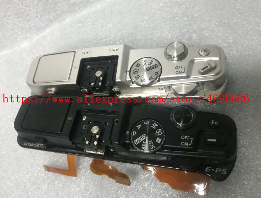 Black/White New Top Cover Assembly With Flash And Buttons Repair Parts For Olympus E-P5 EP5 Camera