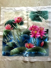 Handmade Pure Finished Silk Embroidery Stitch Painting Gorgeous Arts Decor / Export to Japan High quality Unique Gift
