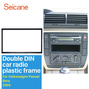 Seicane Auto Radio 2 Din Car Fascias to Car DVD GPS Stereo Player Decorative Frame for 1998-2015 VW Volkswagen 178 * 102MM Frame image