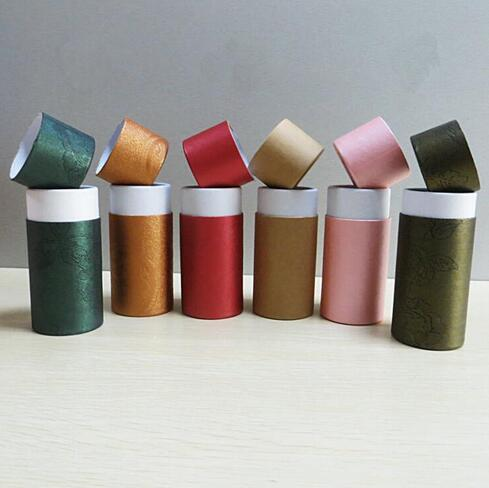 50pcs 10ml Oil bottle packaging gift box paper tube packing box paper tube box with lid round paper cardboard