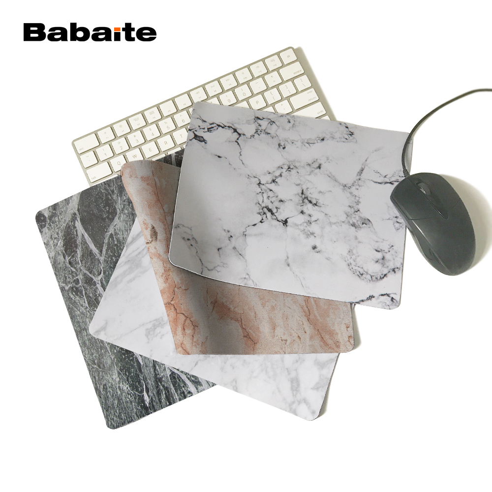Babaite White Marble 2017 New Arrival 180X220X2MM 250X290X2MM Silicon Mat Gaming Mouse Pad