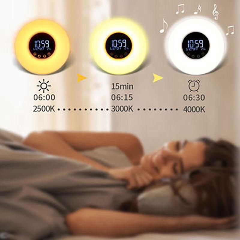 wake up light alarm clock sunrisesunset simulacao 02