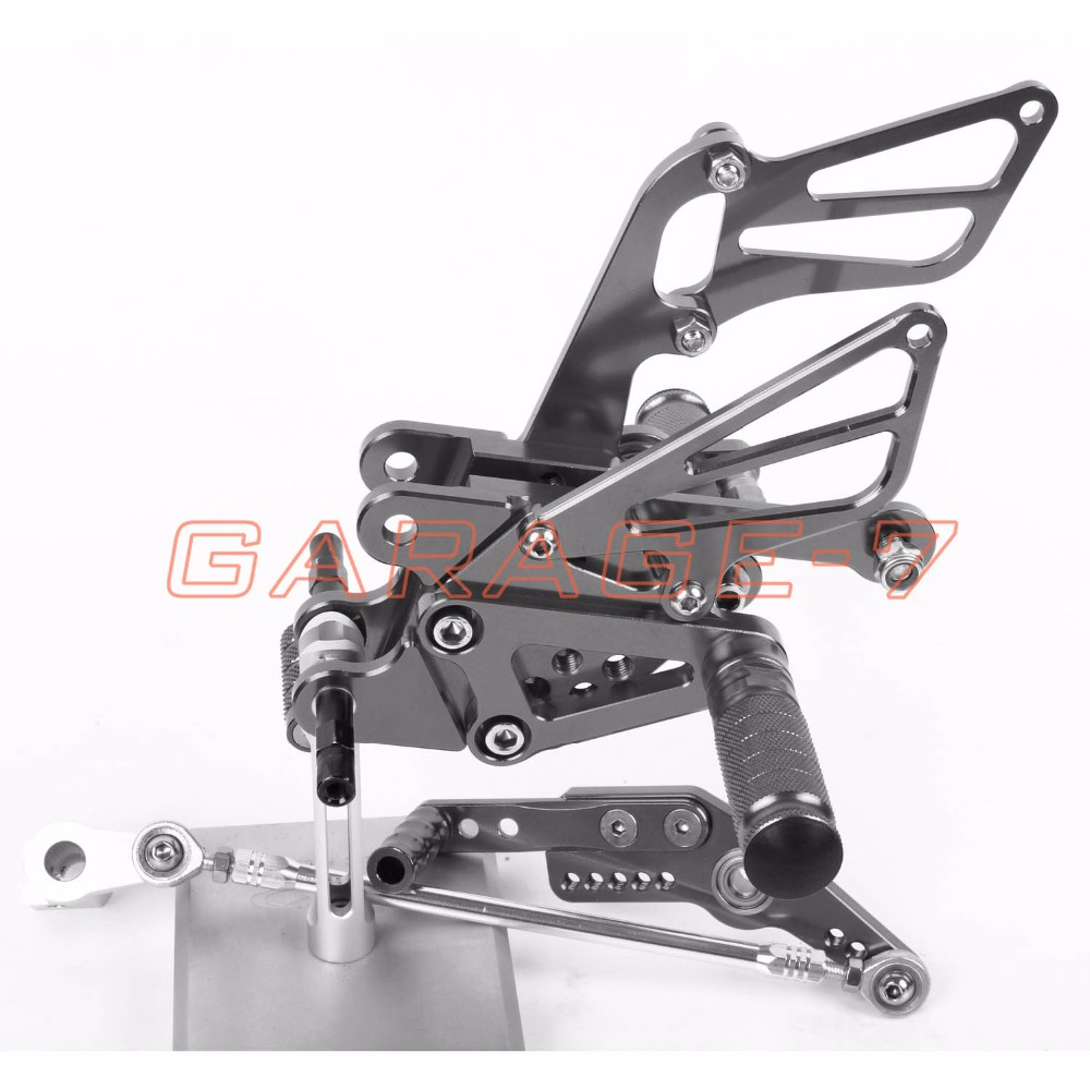 Aluminum Alloy CNC Rearsets Foot Rests Rear Set Titanium color For HONDA CBR1000RR 2004-2007 2005 2006 Motorcycle Foot Pegs New