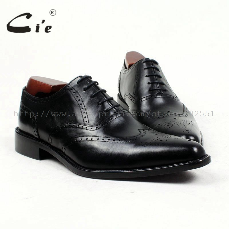 cie pointed toe genuine calf leather bespoke men shoe handmade men's full calf leather outsole classic men shoe black shoe ox417 247 classic leather