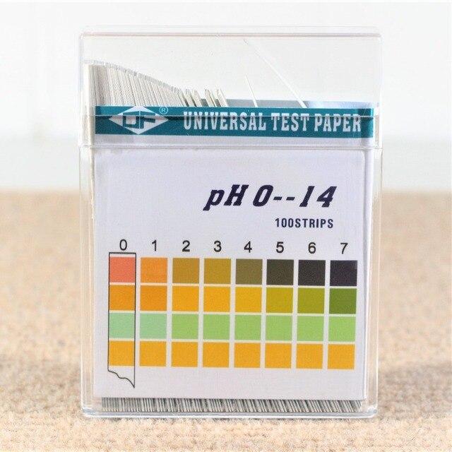 100 pièces 0-14 PH acide alcalin universel indicateur papier eau salive Litmus Kit de test ph mètre laboratoire bandes aquarium