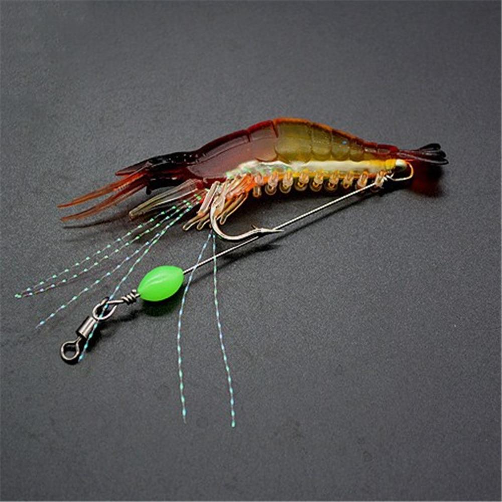 Lot de 7 leurres souples imitation crevettes 8 cm 5 Grs