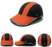 Unisex Motorcycle Half Gezicht Helm Fiets Fietshelm casco Beschermende ABS Lederen Baseball Cap gorras de beisbol