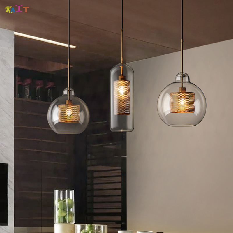 Modern Nordic Pendant Lamps Vintage Russia Loft Kitchen Dining Pendant Lighting E27 Glass