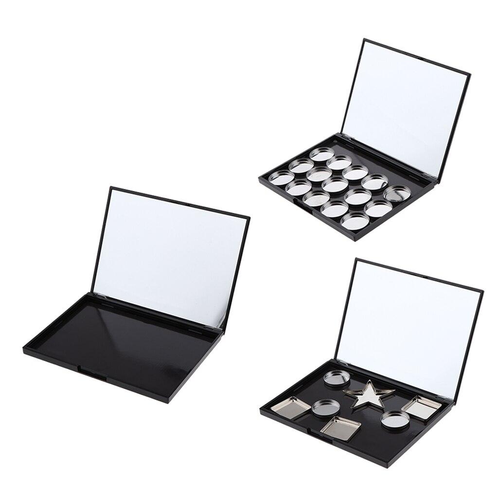 Pro Empty Magnetic Makeup Case Eyeshadow Palette Organizer Box in Eye Shadow Applicator from Beauty Health