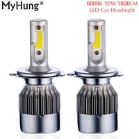 2pcs Headlights 72W 7600LM Car Led Light Bulbs H1 H3 H7 9005 9006 H11 H4 Automobiles