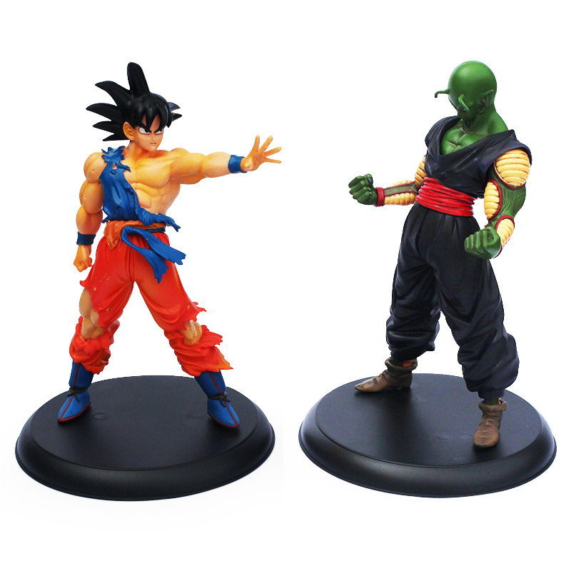 2pcs/Lot Dragon Ball Action Figures Goku & Piccolo Super Saiyan and Demon King PVC 23cm higt toys boys gift with retail box