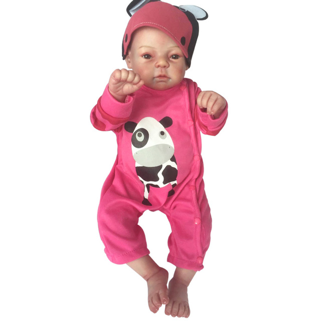 "Fashion Reborn Doll 20"" Full Body Silicone Vinyl Lifelike Handmade Girl Baby Newborn Dolls Girl Brinquedos Child Gift"