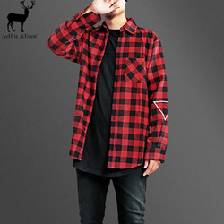 Aelfric eden 2017 autumn winter men fashion red lattice shirt long sleeve high quality cotton street.jpg 250x250