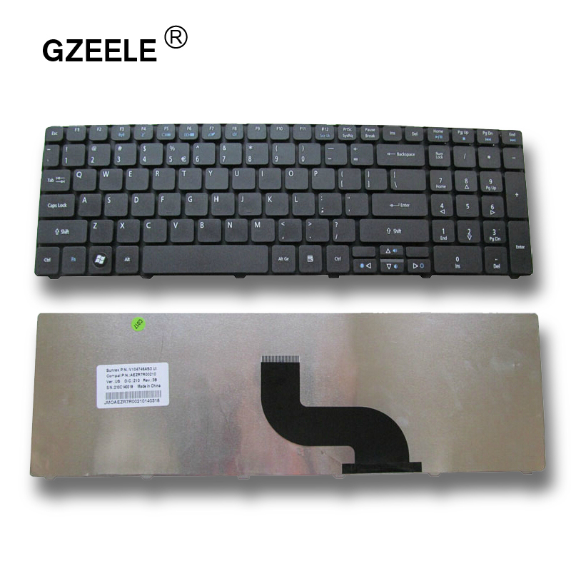GZEELE English Laptop Keyboard For ACER Aspire 5253 5333 5340 5349 5360 5733 5733Z 5750Z 5750ZG US Replace Keyboard Black
