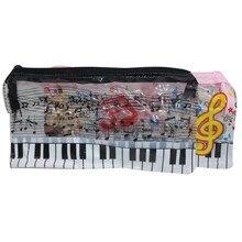 40 pces caixa de lápis de música transparente 195*100mm artigos de papelaria do estudante fácil deformar, comprar com cuidado
