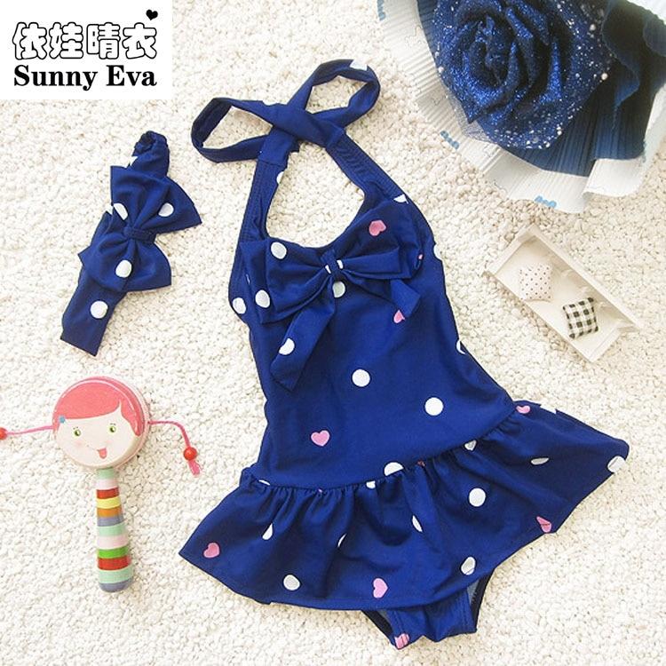 Sunny Eva Girls One Piece Swimwear Bikini Meisje Children's Swimwear Girls Bathing Suits Baby Swimming Suit Toddler Swim