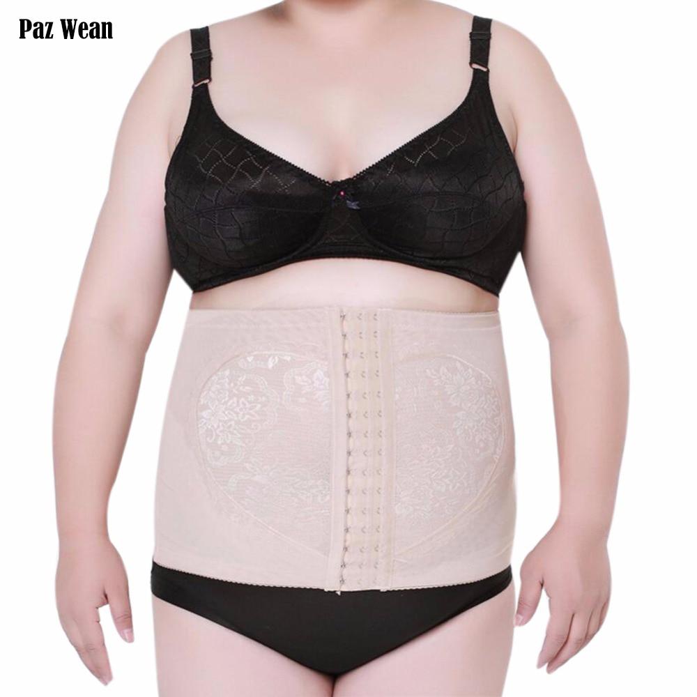 Big Plus Size Women Waist Cincher Trainer Corset Tummy Trimmer Control Underwear tuck belt Slimmer Shapewear