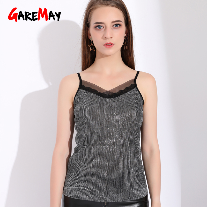 Women's Clothing Womens Sexy Strap Sleeveless Vest Top Blouse Wear Bottoming Beaded Sling Streetwear Women Sexy Casual Off Shoulder Top Blouse